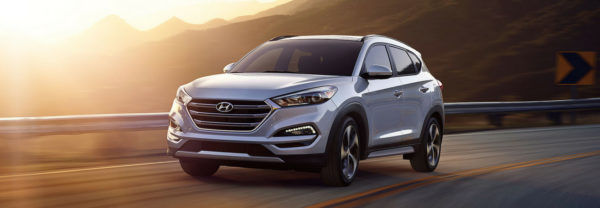 The 2018 Hyundai Tucson, one of the Hyundai SUVs.